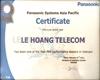 CHỨNG NHẬN LÊ HOÀNG TELECOM PHÂN PHỐI SẢN PHẨM PANASONIC - NĂM 2018