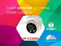 CAMERA DOME IP FULL COLOR 3.0MP VANTECH VP-C3306D